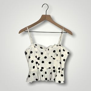 Urban Outfitters Cropped Polka Dot Cami Top